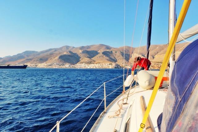 Olga overtog føringen og skipperen blev degraderet til fendergast 😄