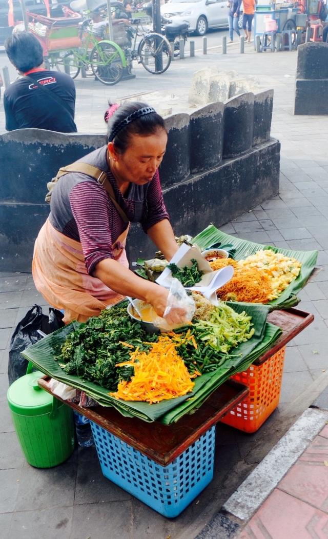 Vegetarisk frisk fra gaden - 2,5 kr.