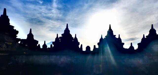 Borobodur tempel, sunrise