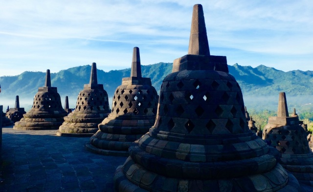 Borobodur Buddhist Temple at 7 am