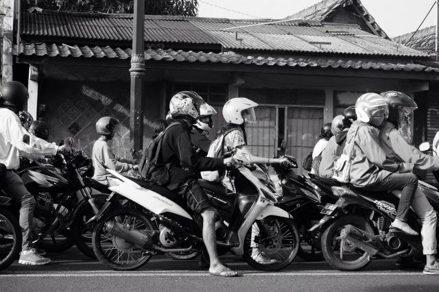 Yogyakarta, morningtrafic