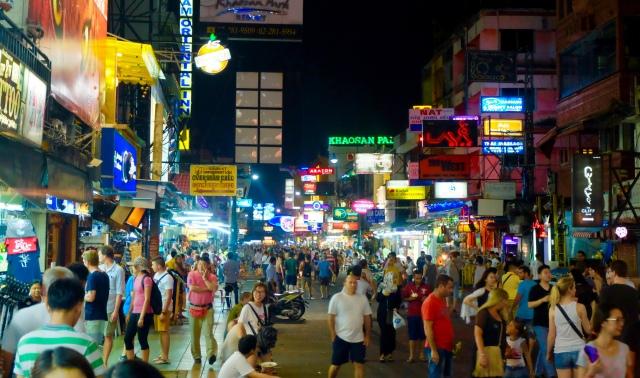 Khao San road, Bangkok - sidste aften