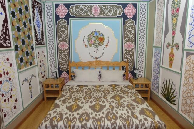 Usbekistan, flotter mig med værelse til 40 dollars pr. nat. Trængte til lidt luksus efter nogle hårde rejsedøgn igennem landet